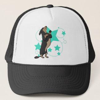 Happy dachshund trucker hat