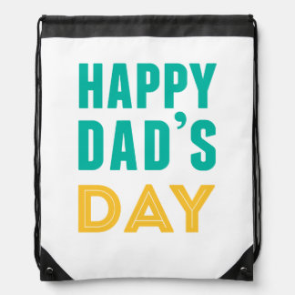 Happy Dad s Day Drawstring Bag
