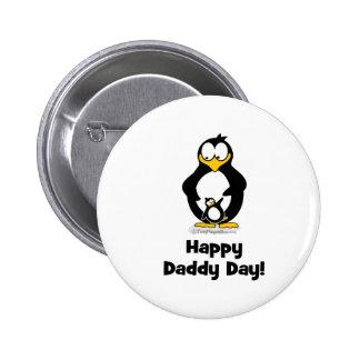 Happy Daddy Day Penguin 6 Cm Round Badge