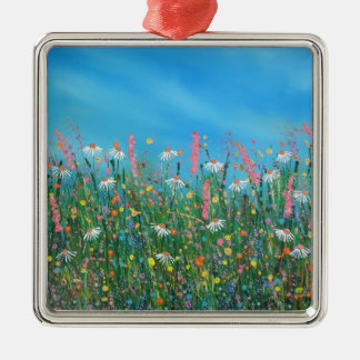 Happy daisies christmas ornament
