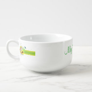 Happy Daisies Soup Mug