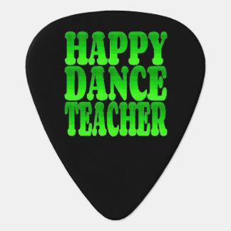 Happy Dance Teacher in Green Plectrum