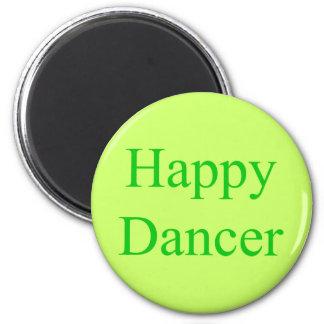 Happy Dancer green 6 Cm Round Magnet