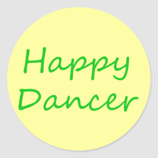 Happy Dancer green script Sticker