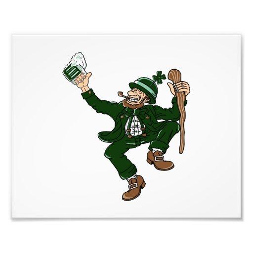 happy dancing leprecaun stick drink.png photographic print