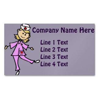 Happy Dancing Nurse Art Magnetic Business Cards