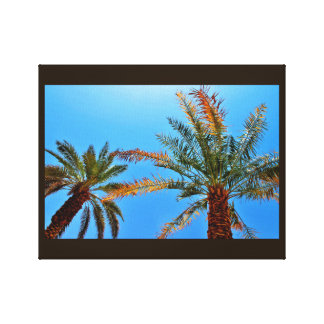 Happy Date Trees Canvas Print