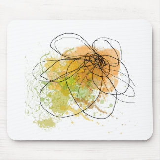 Happy day abstract green JPEG Mouse Pad