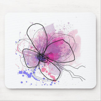 Happy day abstract purple JPEG Mousepad