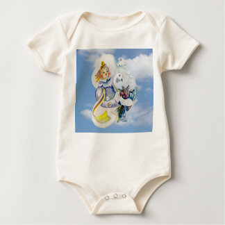 Happy Day in Clouds Baby Bodysuit