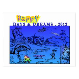Happy Days & Dreams 2012 Postcard