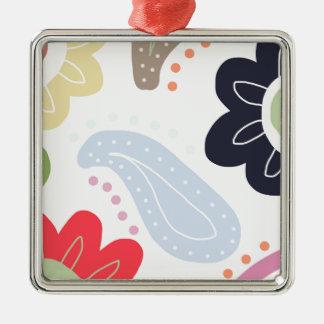 Happy Days Silver-Colored Square Decoration