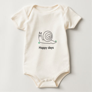 Happy days snail baby gro baby bodysuit