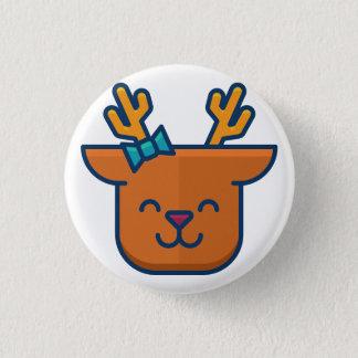 happy Deer 3 Cm Round Badge