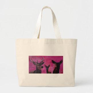 Happy deer family bag