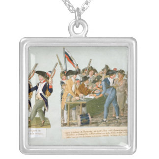 Happy Departure of the Army Volunteers Silver Plated Necklace