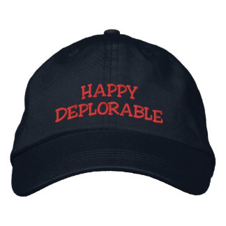 HAPPY DEPLORABLE EMBROIDERED BASEBALL CAP