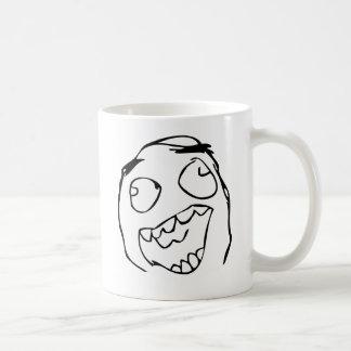 Happy derp -meme basic white mug