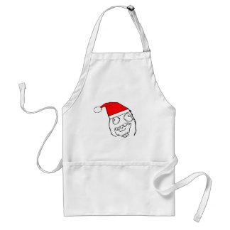 Happy derp santa - meme apron
