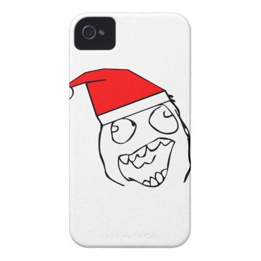 Happy derp santa - meme Case-Mate iPhone 4 cases