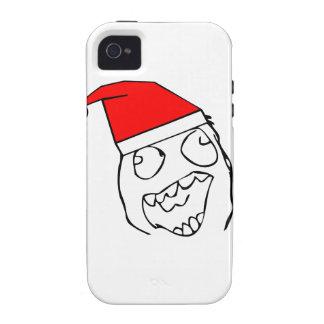 Happy derp santa - meme iPhone 4 case