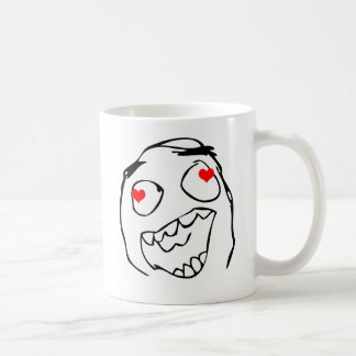 Happy derp Valentine in love - meme Basic White Mug