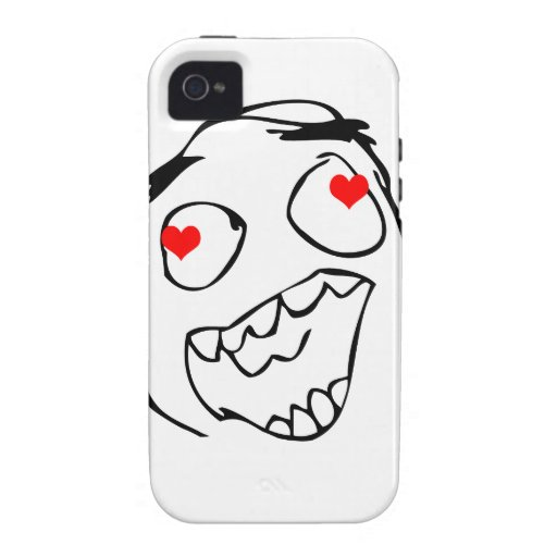 Happy derp Valentine in love - meme Vibe iPhone 4 Cover
