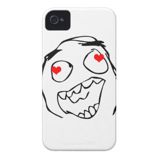 Happy derp Valentine in love - meme iPhone 4 Covers