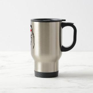 Happy derp Valentine in love - meme Stainless Steel Travel Mug
