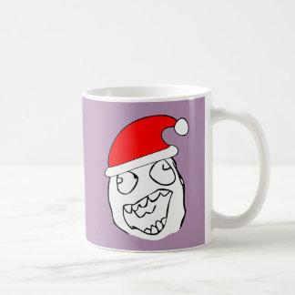 Happy derp xmas meme basic white mug