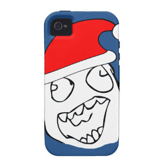 Happy derp xmas meme vibe iPhone 4 covers