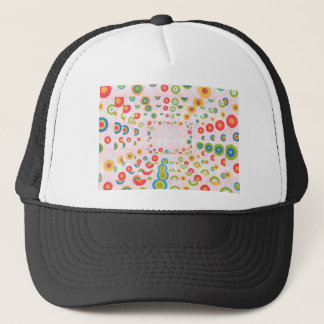 Happy Designs : Back n Front Print Trucker Hat