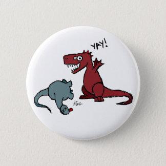 Happy Dinosaur Button