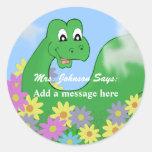 Happy Dinosaur Message Stickers