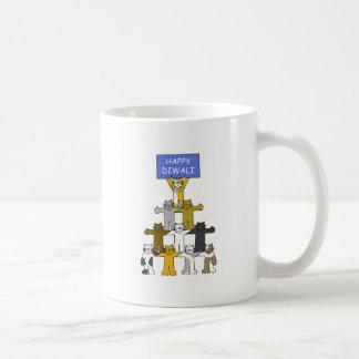 Happy Diwali Cats Coffee Mug