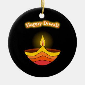 Happy Diwali Christmas Ornament