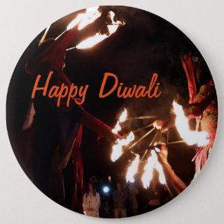 Happy Diwali Colossal Round Badge