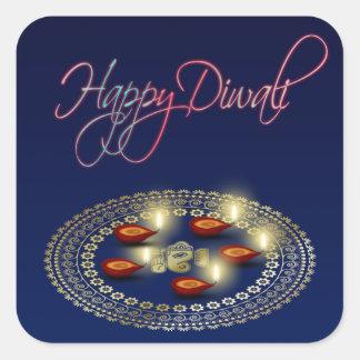 Happy Diwali Ganesha Rangoli - Sticker