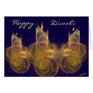 Happy Diwali greeting card. Greeting Card