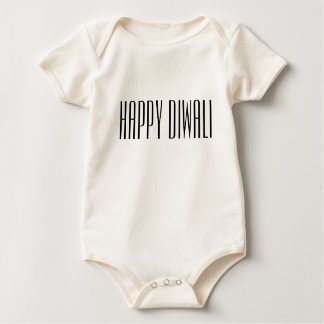 Happy Diwali in elegant font Baby Bodysuit