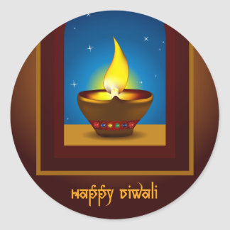 Happy Diwali Round Sticker