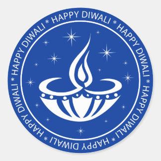 Happy Diwali Classic Round Sticker