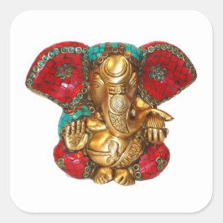 Happy DIWALI -  Thank you GANAPATI Ganesh Square Sticker