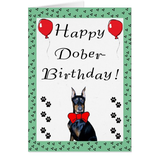 Happy Dober-Birthday Greeting Card
