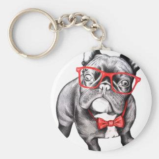 Happy Dog Basic Round Button Key Ring