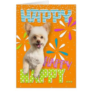 Happy Dog Birthday Card