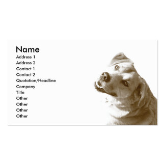 Happy Dog Business card - white