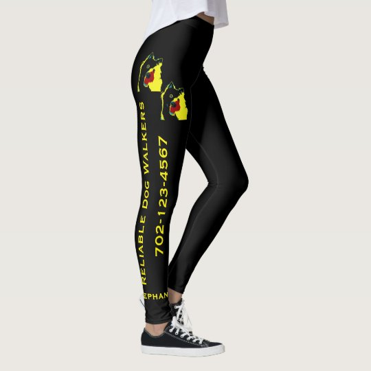 Happy Dog Walking Service Leggings with Name