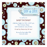 Happy Dot Sip and See New Baby Welcome Invitation