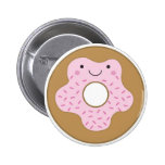 Happy Doughnut Button